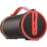 Imperial BEATSMAN Mobiler Bluetooth Lautsprecher mit UKW Radio (2.1 Lautsprecher, Bluetooth 2.1, UKW Radio, MicroSD Kartenleser) (Zertifiziert und Generalüberholt), Farbe:rot