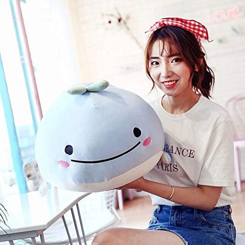 r Wal 40 cm Cartoon-Walfisch weich gefüllt Plüschtier Schlafpuppe Heimkissen Kissen Spielzeug für alle Altersgruppen ()