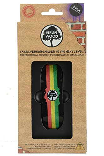 Berlin Wood Rasta Rally Fingerboard Größen Wide Low Shape