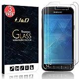 3 Packs Protection écran Galaxy Xcover 4, J&D [Verre Trempé] Protection écran Clair HD pour Samsung Galaxy Xcover 4 - Protège l'écran de la chute et des rayures