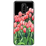 Samsung Galaxy S9 Hülle, Crystal Clear Transparent Handyhülle TPU Silikon Backcover Case Blossom Blühen Blumen Flower Muster Schutz HandyHülle Tasche Hülle für Samsung Galaxy S9
