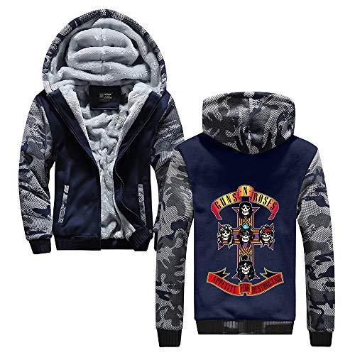 Unisex Iron Maiden Sudaderas Mens populares mantener el calor en invierno con prendas de vestir exteriores de la cremallera Escudo de invierno con capucha Impreso Iron Maiden Sudaderas con capucha