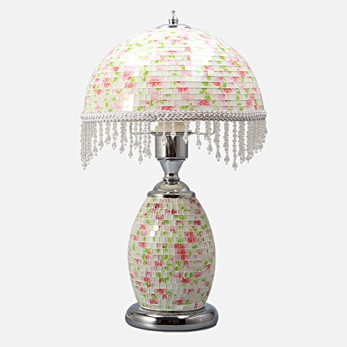 JIEJING European style Personality Decoration Table lamp,Bedroom Bedside nightstand lamp Creative retro Pendant Table lamp Mosaic Decoration Reading light-D