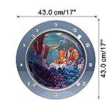 3d sorridente grande squalo nemo dory oblò oblò windows wall stickers per lavatrice decorazione fai da te decalcomanie della parete art