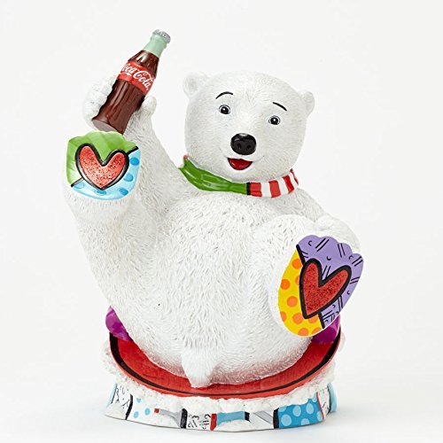 Enesco Coke by Romero Britto Baby Polar Bear Figurine, 7.25-Inch by Enesco
