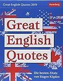Great English Quotes - Kalender 2019: Die besten Zitate von klugen Köpfen