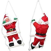 [lux.pro] Papá Noel en la escalera - (32cm-25cm)