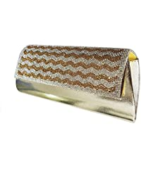 Glamorous Clutch | Party Clutches For Women Stylish Golden | Fancy Purses For Women Wedding With Sling | Party...