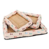 ILPjswu Quality Durable Pet Nest Summer Mat with Anti-slip Mat Breathable Kennel Water Resistant Printed Woven Water Resistant Cat Nest Large, Medium and Small Dogs Universal S M L XL XXL