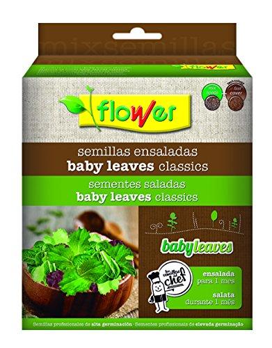 Flower Baby Leaves Clasics Mezcla semillas ensalada 19.0x15.0x6.5 cm