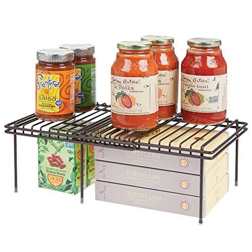 MDesign Juego de 2 accesorios para interiores de armarios de cocina - Práctica balda...