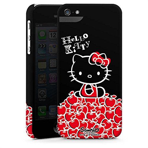 Apple iPhone X Silikon Hülle Case Schutzhülle Hello Kitty Merchandise Fanartikel Black Premium Case StandUp