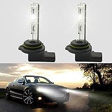 feeldo 2x coche bombillas de 12V 35W 9012HID de xenón HID faros delanteros Singel de repuesto blanco 6000K