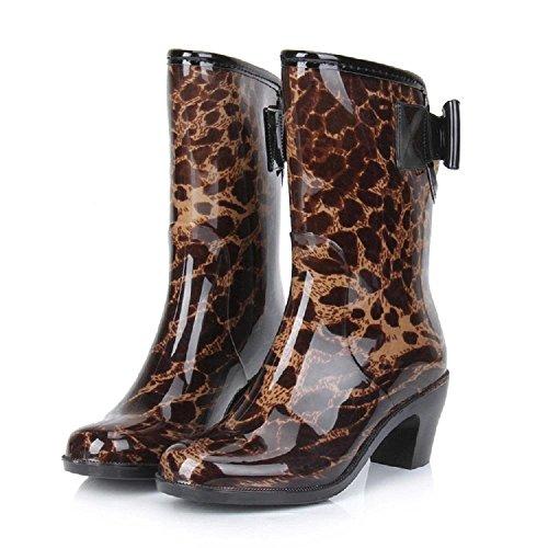 Stivali impermeabili La signora della moda leopard