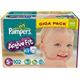 Pampers - 81370972 - Active Fit Couches - Taille 5 Junior - 11-25 kg - Gigapack x 102 Couches