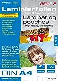 Genie Laminierfolien DIN A4 (80 Micron) 100er Pack