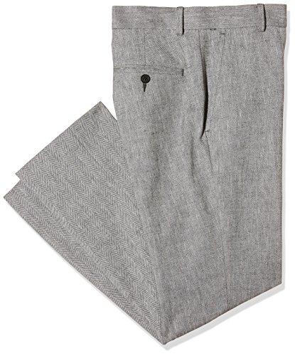 New Look Herren Slim Hose Herringbone Slub, grau, 32 R (Manufacturer Size: W34/L30) (New Herringbone)