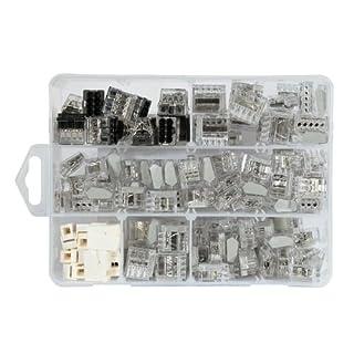 ViD Steckklemmen I Verbindungsklemme Tranparent-Sortiment Box 1 - 2,5 mm² 145 Stück