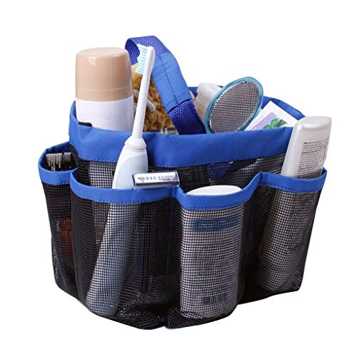 Level Oxford Quick Dry Hanging Mesh-Dusche Caddy Toilettartikel/Bad Organizer mit 8 Speicherfächer - Schwimmer Shampoo Conditioner