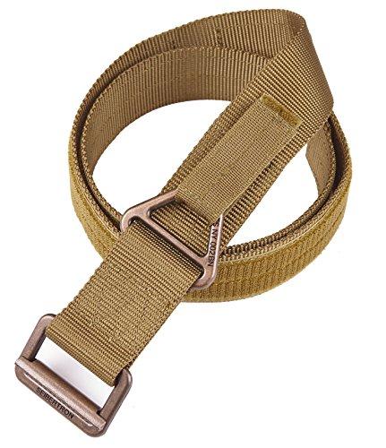 Seibertron Outdoor Tactical TDU Nylon Rigger 45mm Gürtel Gurt für Survival militärischen taktischer Gürtel die Jagd Trekking Taktische Aufgaben Gürtel Coyote Tan Fit Waistline 40
