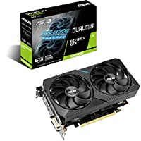 ‏‪ASUS Dual GeForce GTX 1660 SUPER MINI Gaming Graphics Card (PCIe 3.0, 6GB GDDR6 memory, HDMI, DisplayPort, DVI-D, for Intel NUC 9 Extreme Kit, Intel NUC 9 Pro Kit, and small chassis)‬‏