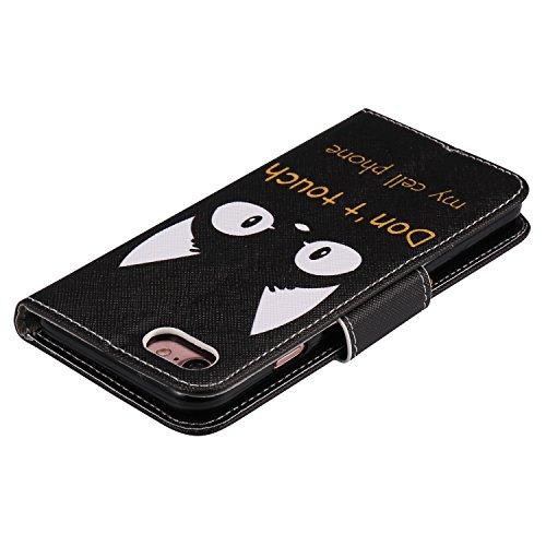 Cozy Hut Custodia iPhone 7 con Strap, iPhone 7 Flip Custodia Cover Case, Creative Disegno stampa stile del libro Portafoglio Cover Case in PU Cuoio Wallet Caso copertina con funzione di supporto e mor orecchiette