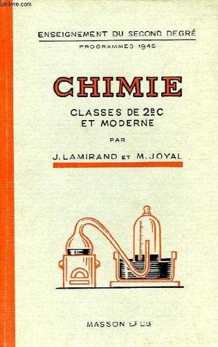 CHIMIE, CLASSES DE 2de C ET MODERNE
