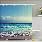 Baño cortina de ducha impermeable y moho cortina de poliéster sombra , W150 x L180 cm