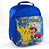 Personalised Pokemon Pk01 Blue Childrens Insulated School Lunch Box Cooler Bag