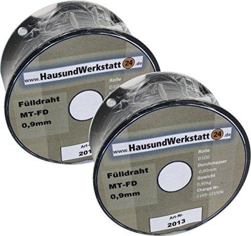 Fülldraht 2 Rollen x 0,9mm 1 Kg zusammen 2kg Für Güde Rowi u.a. von deutschem Markenhersteller