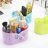 #10: Kurtzy Multi-Segment Hollow Basket Storage Box Organizer Container Kitchen Bathroom Office 21X12X11CM Assorted colors