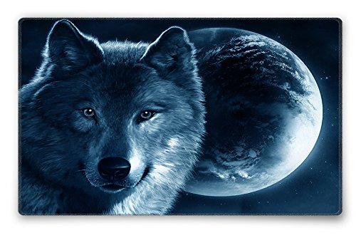 Silent Monsters Tapis de Souris Taille s (240 x 200 mm) Mouse Pad Petit, Motif Loup, Approprié pour Souris de Bureau et Souris de Gaming