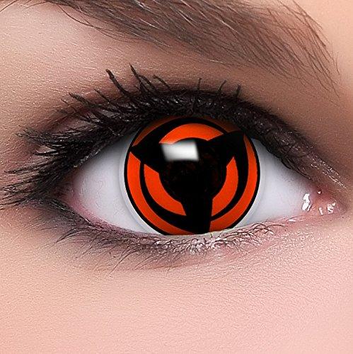 Linsenfinder Sharingan Kontaktlinsen mit Stärke 'Mangekyou' + Behälter Farbige Kontaktlinsen perfekt zu deinem Anime Cosplay Kostüm (Cosplay Kostüme Tutorial)