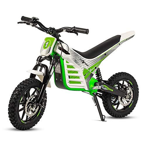 ECOXTREM Moto Cross eléctrica Infantil, Color Verde.