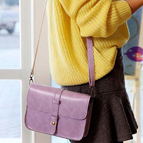Sannysis Ladies Vintage Borse A Tracolla A Tracolla In Pelle Color Porpora