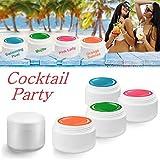 Eubecos Gel Colorato Cocktail Party Colorgel Nail Art Farbgelset Vari Colori 4x 5 Ml Prodotto in Germania in Studio Qualità! Selbstglättend Im Set Beneficio