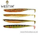 Westin KickTeez ST 9 cm - 6 Gummifische für Zander, Hecht, Barsch, Forelle, Zanderköder, Gummiköder, Hechtköder, Bar