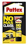 Pattex No Más Clavos Original, adhesivo de montaje resistente, pegamento extrafuerte para madera, metal y más, adhesivo blanco instantáneo, 1 tubo x 100 g