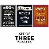 #5: Motivational Quotes Posters - Set of 3 Inspirational Wall Quotes For Office And Study Room | Size 12 x 18 Inch