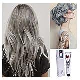 Search : Kingko® 100ML Silver Ash Light Grey Hair Colour Permanent Hair Cream Dye Punk Emo Goth Cosplay