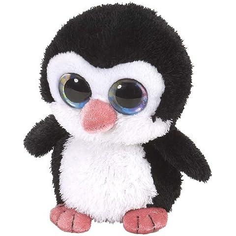 Li'l Sweet & Sassy - Pingüino de peluche, 13 cm , color negro y blanco (Wild Republic 13716)