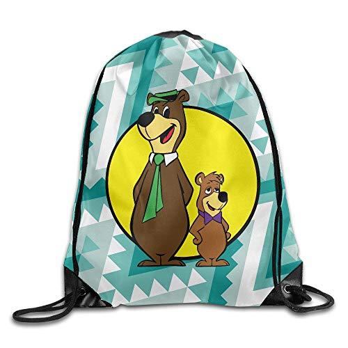 SunHann Yogi Bear and Boo Boo Drawstring Backpack Travel Sports Bag