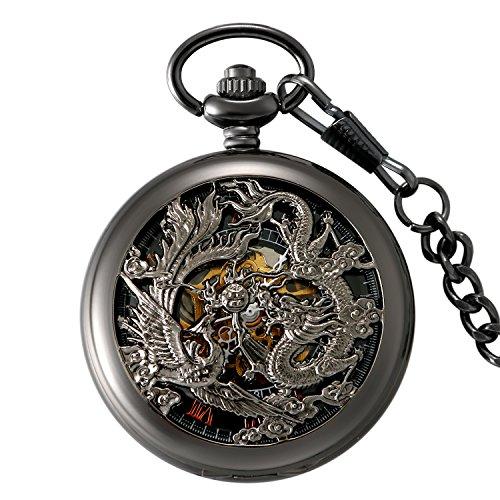 LANCARDO Taschenuhr Vintage Herren Damen Uhr Analog mit -