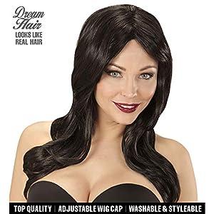 WIDMANN 06435peluca Lindsay Negro en Drea mhair Calidad, mujer, One size