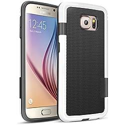 Galaxy S6 Funda - [Ultra Hybrid] HanLuckyStars Funda Carcasa Case TPU Matte Shell Exact Bumper Tope Shock Protección Gota Anti-Arañazos , Choque Absorción Borrar Espalda para Samsung Galaxy S6 (Negro)