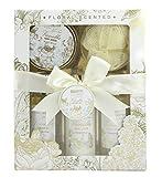 BRUBAKER Cosmetics Bade- und Dusch Set Vanille Rosen Minze Duft - 5-teiliges Geschenkset