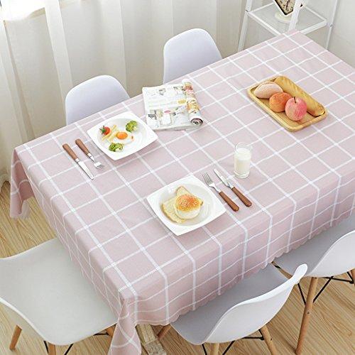 Glatte Vinyl Tischsets (Tischdecke Tischdecke wasserdicht und ölbeständig PVC rustikalen Stil rechteckige Couchtisch Tischset ( Farbe : B , größe : 120*170CM ))
