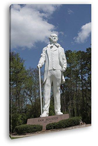 Statur des Sam Houston Format: 60x40 als Leinwandbild, Motiv fertig gerahmt auf Echtholzrahmen, Hochwertiger Digitaldruck mit Rahmen, Kein Poster oder Plakat -
