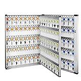 Armoires à clés Large Silver Key Cabinet 305 Boîte À Clés Boîte De Gestion Épaissie Cabinet Principal Agence Immobilière Hôtel Boîte De Rangement Murale (Color : Silver, Size : 51.9 * 10.1 * 74.2cm)...