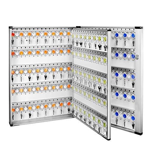 Armoires à clés boîte de Gestion de boîte à clés 305 épaissie Armoire de Rangement Mural Agence immobilière hôtel (Color : Silver, Size : 51.9 * 10.1 * 74.2cm)